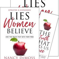 Lies Women Believe Book and Study Guide with bkmk Set (Updated)