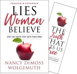 Lies Women Believe Hardcover Book with Truth Bookmark (Updated)