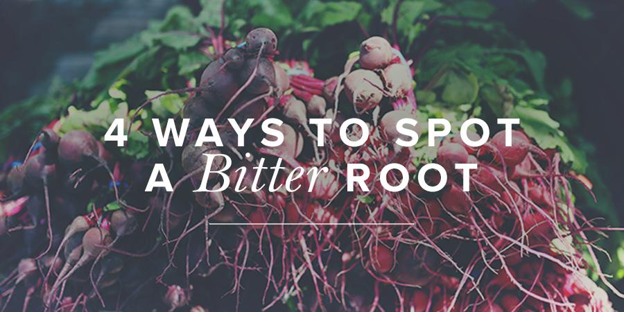 4 ways to spot a bitter root