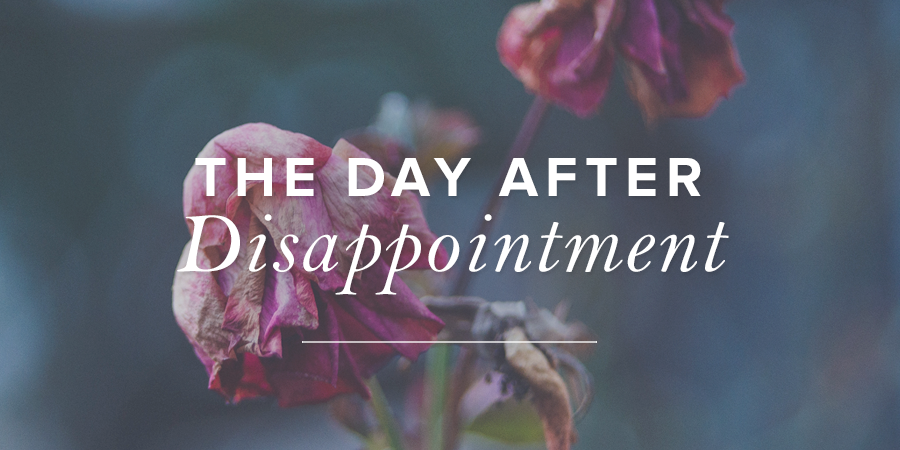 The Day After Disappointment True Woman Blog Revive
