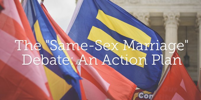 Action plan for gay marriage